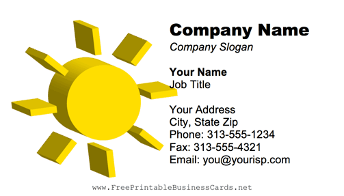 Sun business card