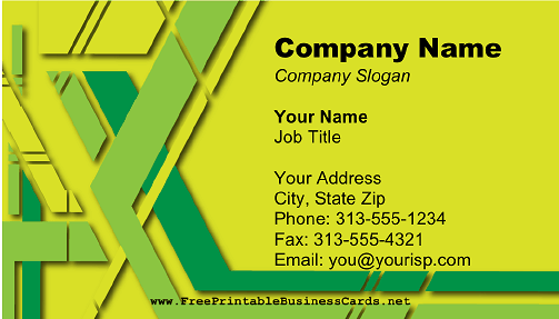 Lemon Lime Colors business card