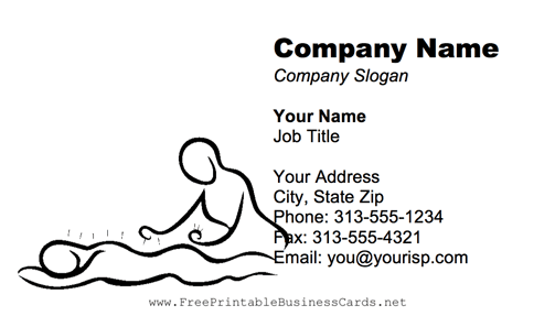 Acupuncture Blue business card