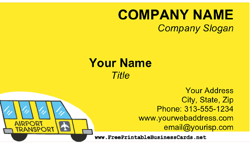 Airport Shuttle business card