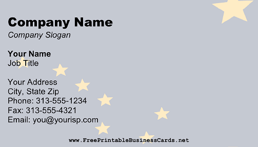 Flag of Alaska business card
