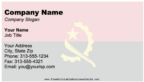 Angola Business Card business card