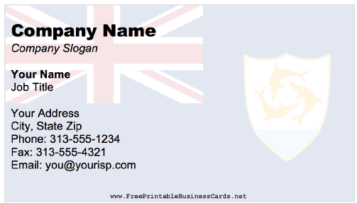Anguilla Business Card business card
