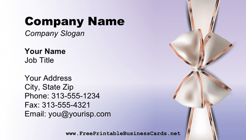Anniversary Business Card business card