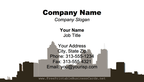 Atlanta Skyline business card