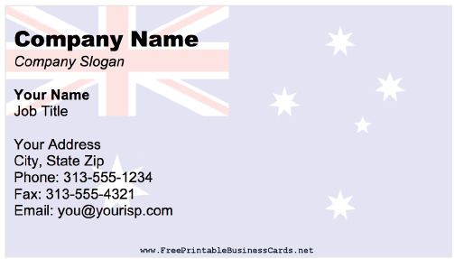 Australia business card