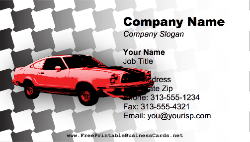 Automotive Checkered business card