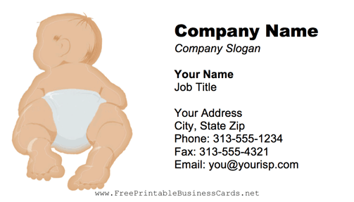 Baby Blue business card