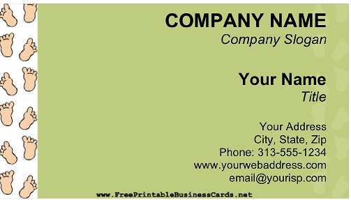 Baby Feet business card