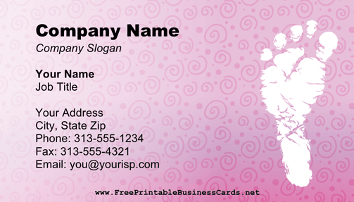 Baby Shower 2 Business Card business card