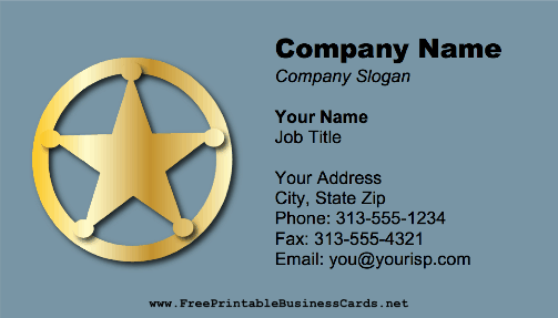 Gold Badge business card