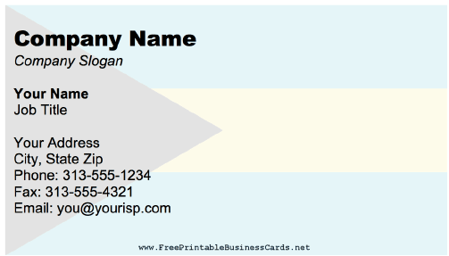 Bahamas business card