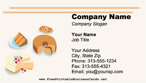 Bakery Cakes business card