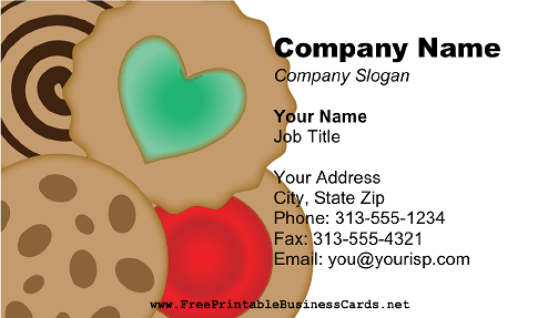 Cookie Business business card