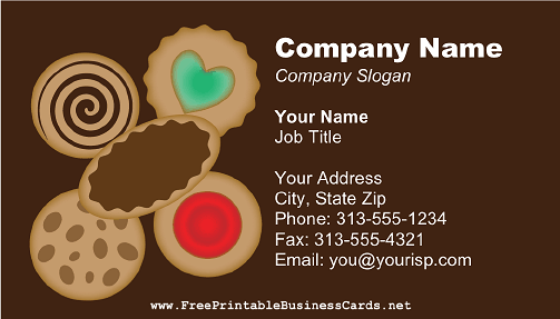 Cookie Arrangement business card