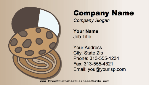 Bakery Cookies business card