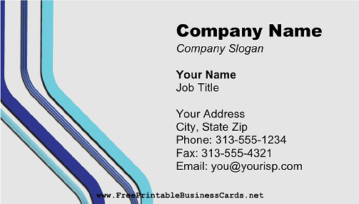 Blue And Gray Lines business card