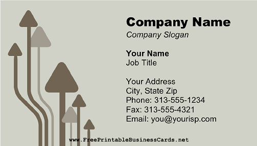 Gray Arrows business card