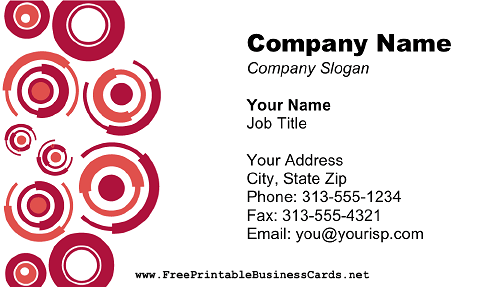 Red Circles business card