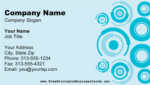 Blue Circles business card