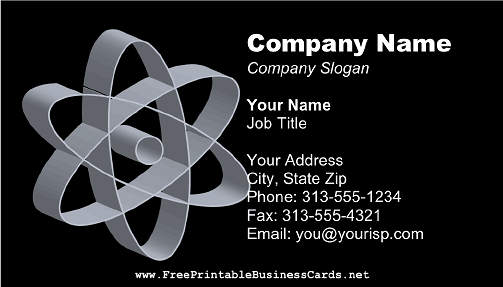 Black Atomic business card