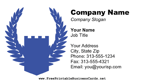 Blue Shield business card