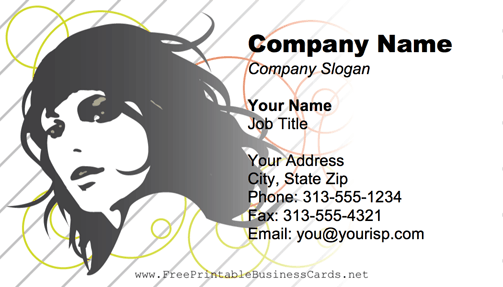 Beautiful Woman business card