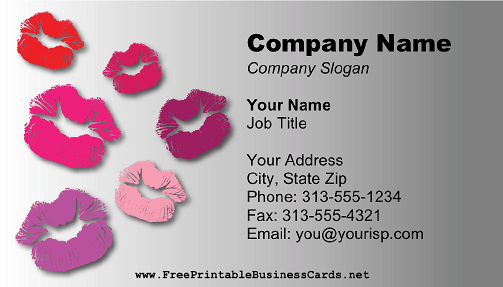 Lipstick Lips business card