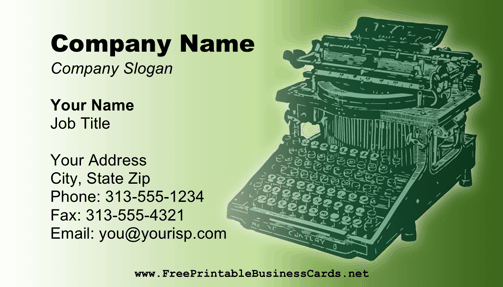Blogger business card