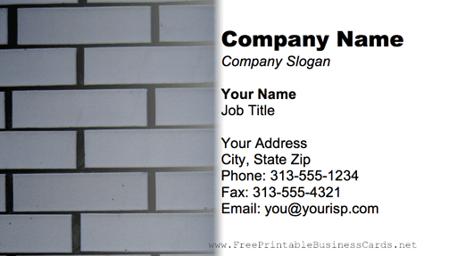Blue Bricks business card
