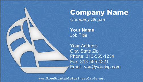 Sailboat Blue business card