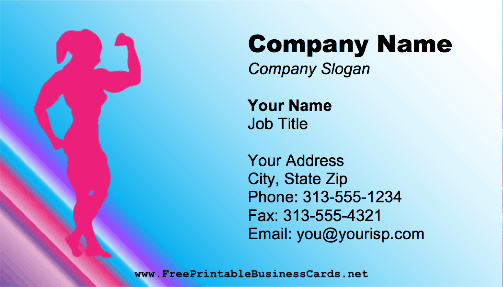 Female Bodybuilder business card