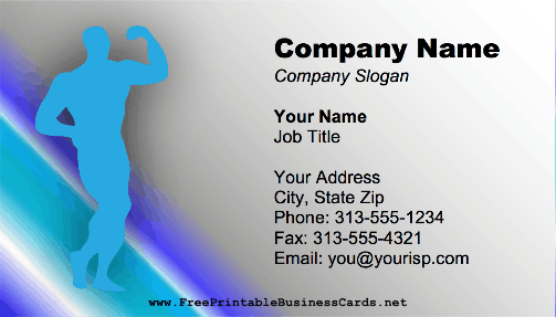 Male Bodybuilder business card