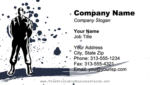 Bodyguard business card