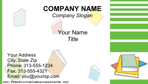 Books business card