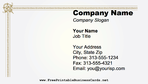 Simple Border business card