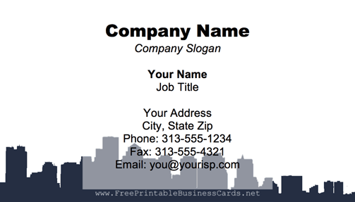 Boston Skyline business card
