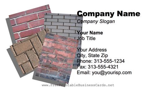 Bricks business card