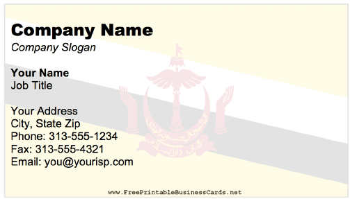 Brunei business card