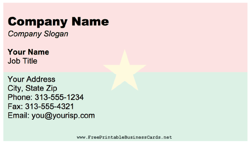 Burkina Faso business card