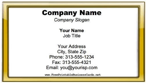 Business Card With Glossy Border business card