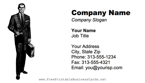Businessman business card