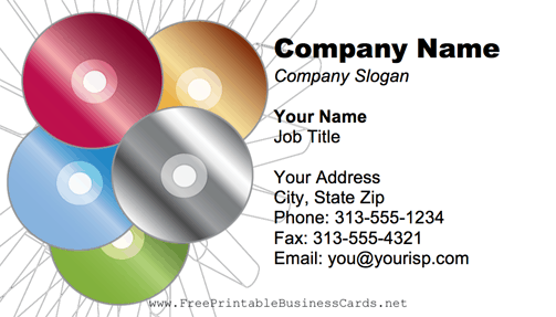 CD-DVD business card