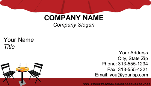 Café/Coffee Shop business card