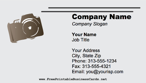 Compact Camera business card