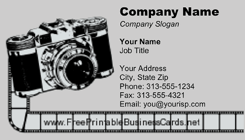 Film Camera business card