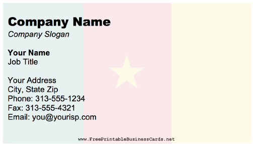 Cameroon business card