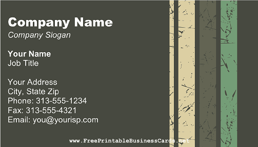 Camouflage 2 business card