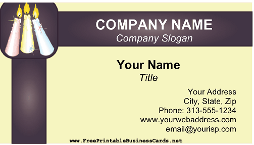 Candle Seller business card
