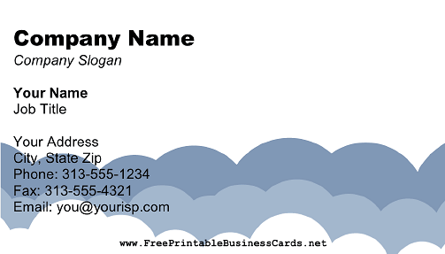 Abstract Clouds business card